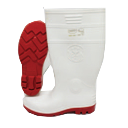 Knee Length Gumboots White Butchers